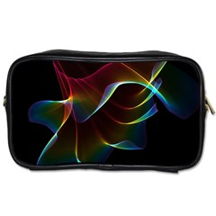 Imagine, Through The Abstract Rainbow Veil Travel Toiletry Bag (One Side)