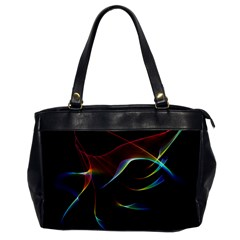 Imagine, Through The Abstract Rainbow Veil Oversize Office Handbag (one Side)