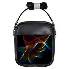 Imagine, Through The Abstract Rainbow Veil Girl s Sling Bag