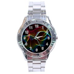 Imagine, Through The Abstract Rainbow Veil Stainless Steel Watch