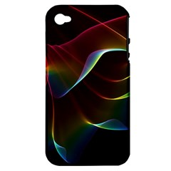 Imagine, Through The Abstract Rainbow Veil Apple Iphone 4/4s Hardshell Case (pc+silicone)