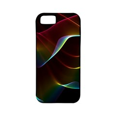 Imagine, Through The Abstract Rainbow Veil Apple Iphone 5 Classic Hardshell Case (pc+silicone)