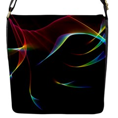 Imagine, Through The Abstract Rainbow Veil Flap Closure Messenger Bag (Small)