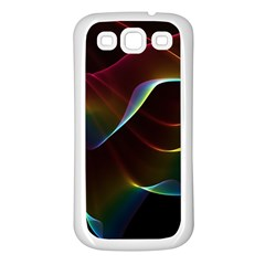 Imagine, Through The Abstract Rainbow Veil Samsung Galaxy S3 Back Case (white)