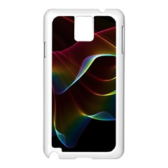 Imagine, Through The Abstract Rainbow Veil Samsung Galaxy Note 3 N9005 Case (White)