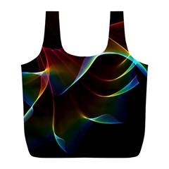 Imagine, Through The Abstract Rainbow Veil Reusable Bag (L)