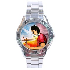 My Music & I Stainless Steel Watch