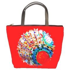 lost friend Bucket Handbag