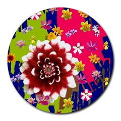 Flower Bunch 8  Mouse Pad (round)