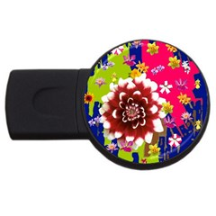 Flower Bunch 2gb Usb Flash Drive (round)