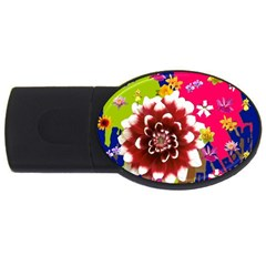 Flower Bunch 4GB USB Flash Drive (Oval)