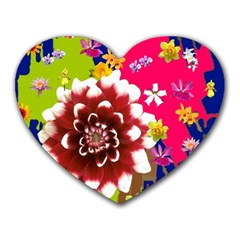 Flower Bunch Mouse Pad (heart)