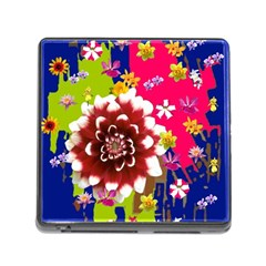 Flower Bunch Memory Card Reader with Storage (Square)