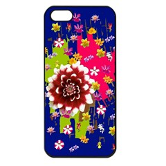 Flower Bunch Apple iPhone 5 Seamless Case (Black)