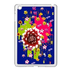 Flower Bunch Apple iPad Mini Case (White)