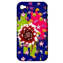Flower Bunch Apple Iphone 4/4s Hardshell Case (pc+silicone)