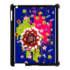 Flower Bunch Apple iPad 3/4 Case (Black)