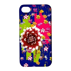 Flower Bunch Apple Iphone 4/4s Hardshell Case With Stand