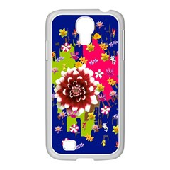Flower Bunch Samsung Galaxy S4 I9500/ I9505 Case (white)