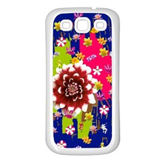 Flower Bunch Samsung Galaxy S3 Back Case (White)