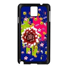 Flower Bunch Samsung Galaxy Note 3 N9005 Case (Black)