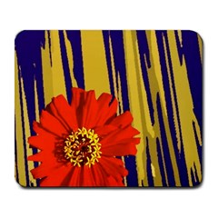 Red Flower Large Mouse Pad (Rectangle)