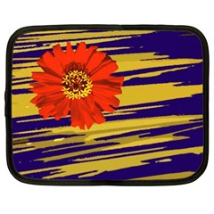 Red Flower Netbook Sleeve (XL)
