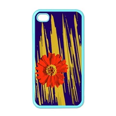 Red Flower Apple Iphone 4 Case (color)