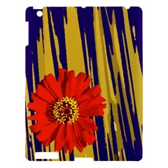 Red Flower Apple iPad 3/4 Hardshell Case