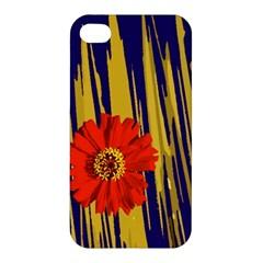 Red Flower Apple Iphone 4/4s Premium Hardshell Case
