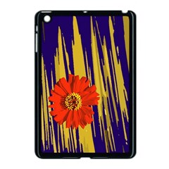 Red Flower Apple iPad Mini Case (Black)