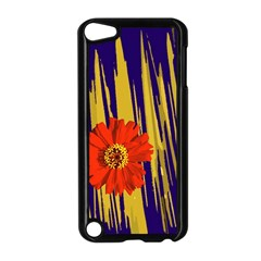 Red Flower Apple Ipod Touch 5 Case (black)