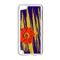 Red Flower Apple iPod Touch 5 Case (White)
