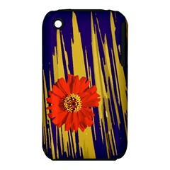 Red Flower Apple iPhone 3G/3GS Hardshell Case (PC+Silicone)