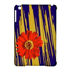 Red Flower Apple Ipad Mini Hardshell Case (compatible With Smart Cover)