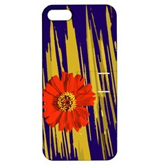 Red Flower Apple iPhone 5 Hardshell Case with Stand