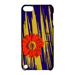 Red Flower Apple iPod Touch 5 Hardshell Case with Stand
