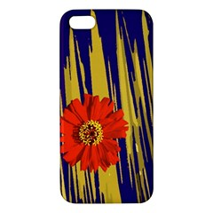 Red Flower Apple Iphone 5 Premium Hardshell Case