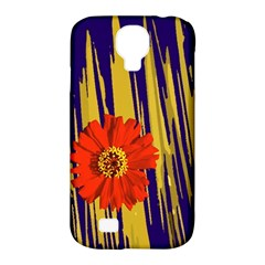 Red Flower Samsung Galaxy S4 Classic Hardshell Case (pc+silicone)