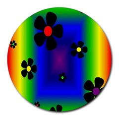 Mod Hippy 8  Mouse Pad (Round)