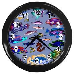 Fishy Wall Clock (Black)
