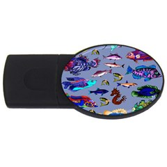 Fishy 4GB USB Flash Drive (Oval)