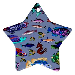 Fishy Star Ornament (two Sides)