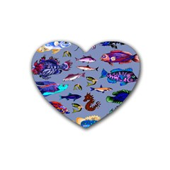 Fishy Drink Coasters (Heart)