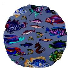 Fishy 18  Premium Round Cushion
