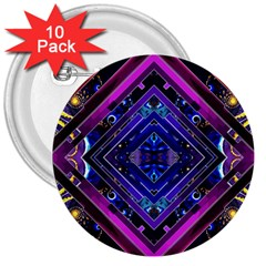 Galaxy 3  Button (10 Pack)