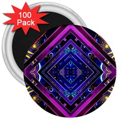 Galaxy 3  Button Magnet (100 pack)