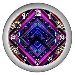 Galaxy Wall Clock (Silver)