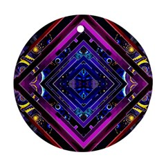 Galaxy Round Ornament (Two Sides)