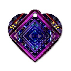 Galaxy Dog Tag Heart (Two Sided)